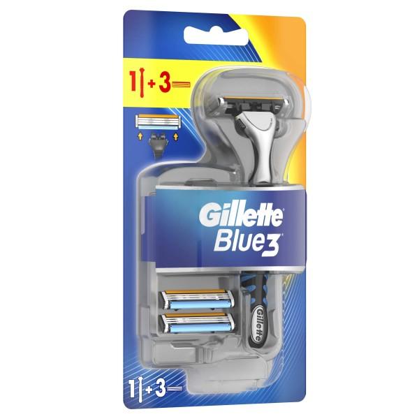 Бритвенный станок Gillette Blue3 с 3 сменными кассетами