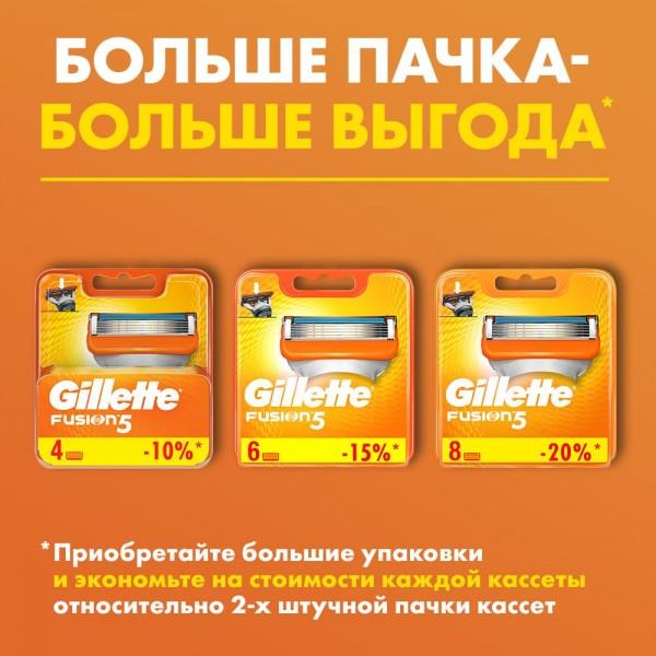 Бритвенный станок Gillette Fusion5 с 2 сменными кассетами