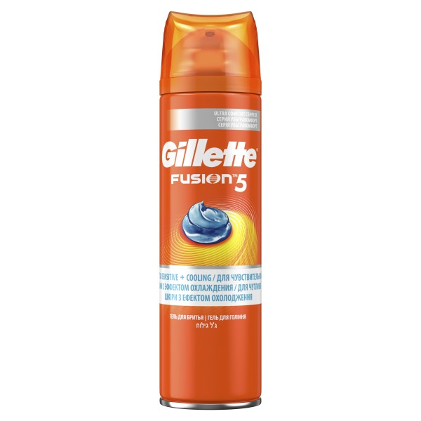Гель для бритья Gillette Fusion 5 Ultra Sensitive & Cooling, 200 мл