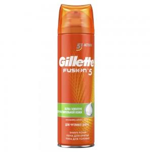 Пена для бритья Gillette Fusion5 Ultra Sensitive, 250 мл