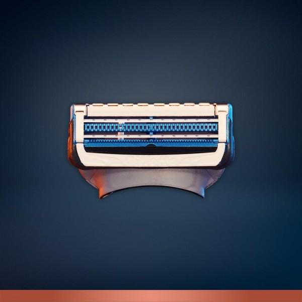 Сменные кассеты для бритья чувствительных участков King C. Gillette (3 шт.)