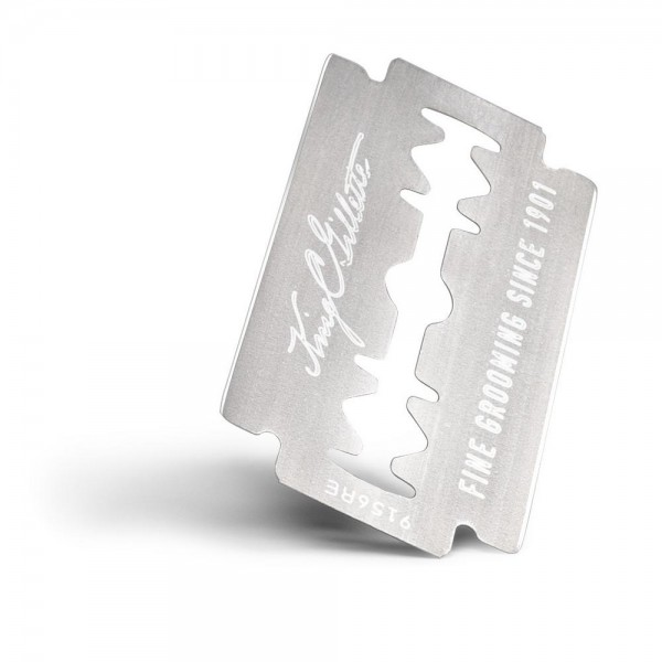 Двусторонние лезвия для бритья King C. Gillette (10 шт.), с платиновым покрытием, 10 шт.