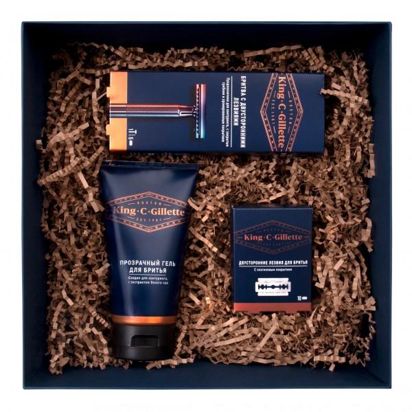 Набор для бритья King C. Gillette с Т-образным бритвенным станком