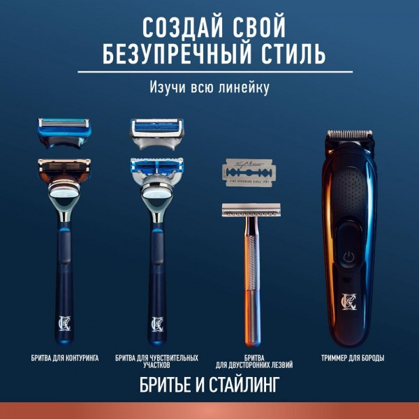 Триммер для бороды King C. Gillette