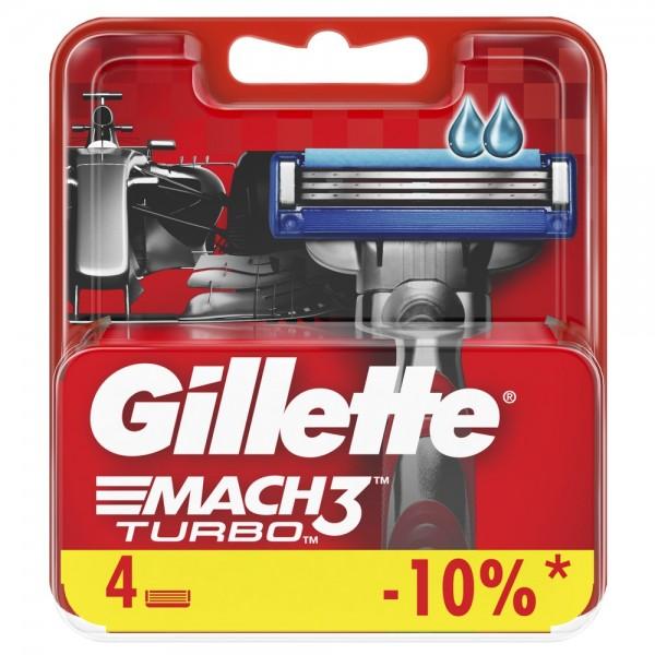 Сменные кассеты для бритья Gillette Mach3 Turbo 3D, 4 шт