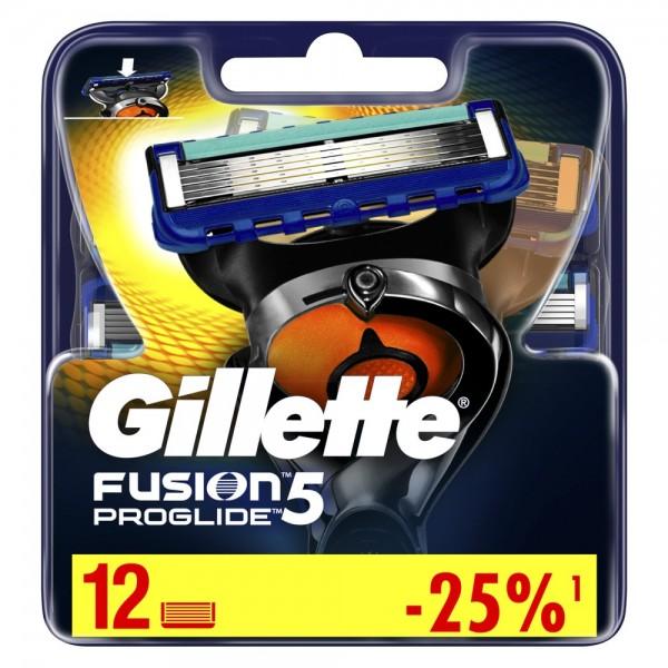Сменные кассеты для бритья Gillette Fusion5 ProGlide, 12 шт