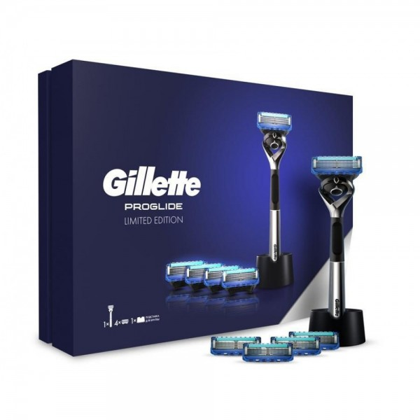 Подарочный набор Gillette Fusion Proglide Limited Edition с подставкой для бритвы в премиальной подарочной упаковке