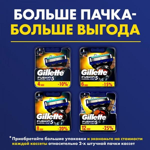 Бритвенный станок Gillette Fusion5 ProGlide + 4 сменные кассеты Fusion5 ProGlide