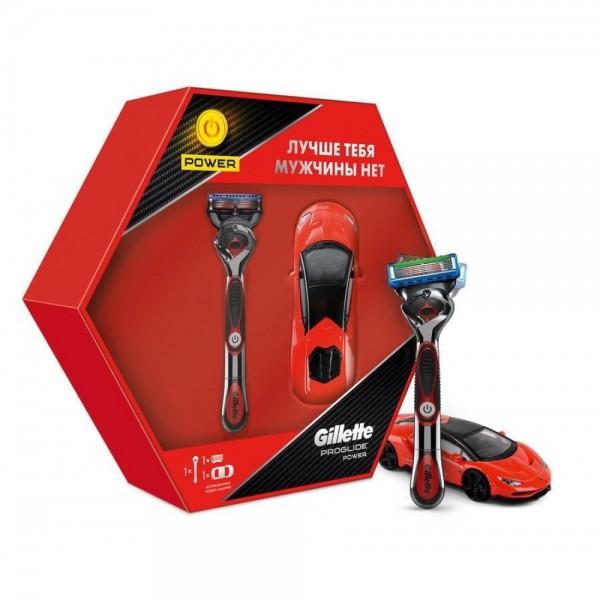 Подарочный набор Gillette Proglide Power Red с моделью гоночного автомобиля