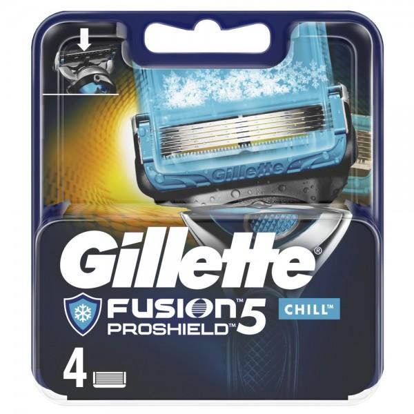 Сменные кассеты для бритья Gillette Fusion5 ProShield Chill, 4 шт