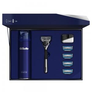 Подарочный набор Gillette Fusion5 ProShield Chill Limited Edition (бритва+4кас+гель+подставка)