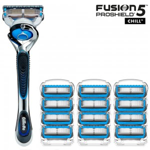 Бритвенный станок Gillette Fusion5 ProShield Chill + 12 сменных кассет Fusion5 ProShield Chill