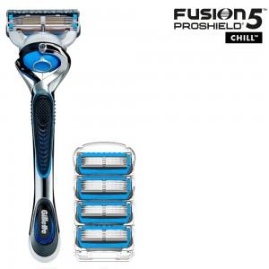 Бритвенный станок Gillette Fusion5 ProShield Chill + 4 сменные кассеты Fusion5 ProShield Chill