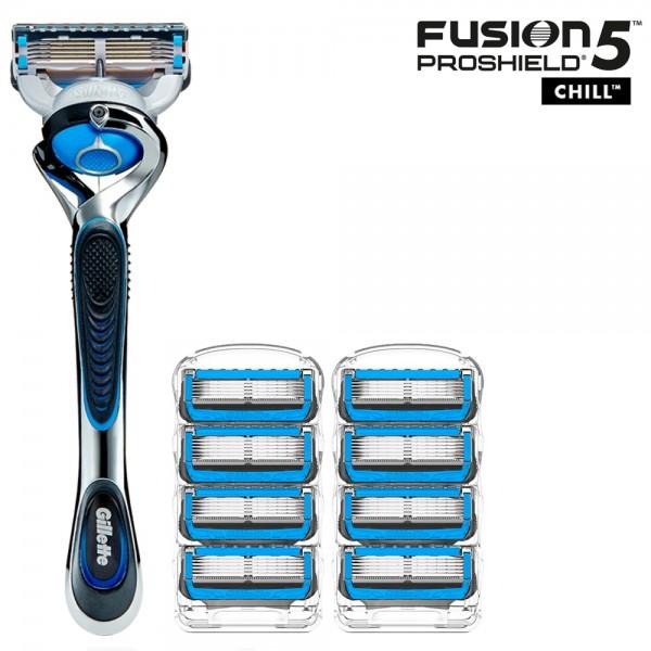 Бритвенный станок Gillette Fusion5 ProShield Chill + 8 сменных кассет Fusion5 ProShield Chill