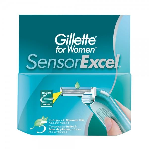 Сменные кассеты для бритья Gillette Venus Sensor Excel, 5 шт