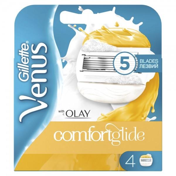 Набор Gillette Venus: Extra Smooth Sensitive RoseGold + 4 кассеты Venus with OLAY, с металлической ручкой