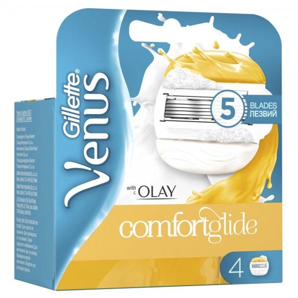 Сменные кассеты для бритвы Gillette Venus ComfortGlide with OLAY, 4+4 (8 шт)